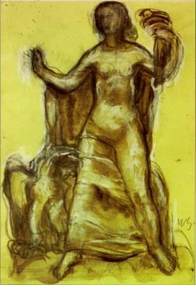 """PK 30: """"Freiheit"""" Skulpturenentwurf W.Gerstel"""