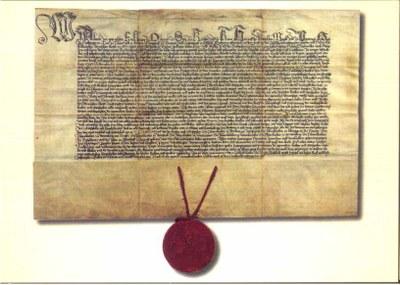 PK 20: Stiftungsdiplom Albrechts 1456