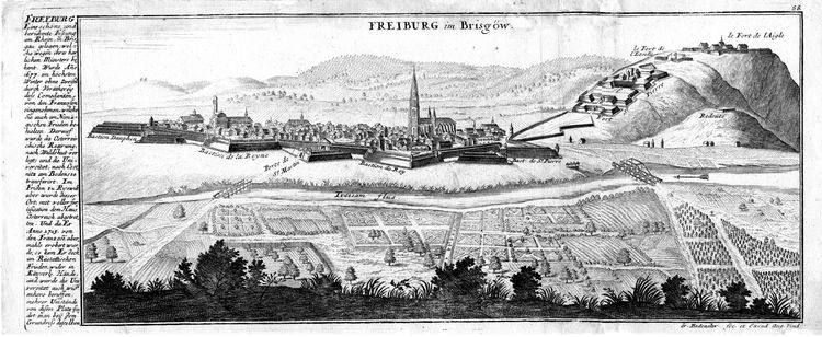 Stich von Freiburg um 1720